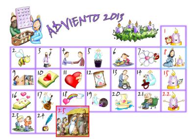 Calendario de Adviento..para todos